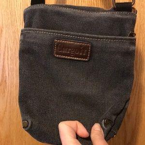 Cargoit DERBY zip top gray canvas purse handbag